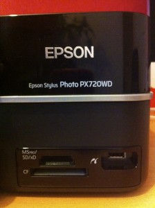 Epson PX720WD Card Slots